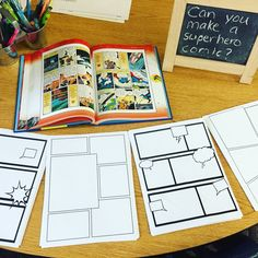 Myers' Kindergarten: What We Learned By Investigating Superheroes: Part 1 Super Hero Activities, Eyfs Activities, Kindergarten Activities, Writing Activities, Preschool, Superhero Writing, Superhero Classroom Theme, Classroom Themes, Classroom Layout