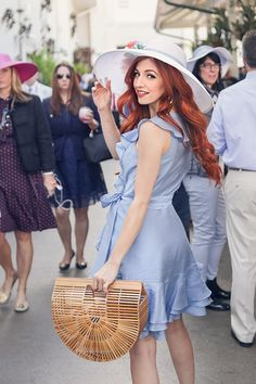 Check out my outfit details from this weekend's running of the Kentucky Derby, and discover a perfect dupe for the coveted and sold out Cult Gaia Ark! Kentucky Derby Fashion, Derby Outfits, Summer Day Dresses, Derby Day, Southern Style, Frocks, Spring Summer, Party Ideas, Women's Fashion