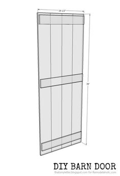 Remodelaholic | DIY Sliding Barn Door + Inexpensive Hardware