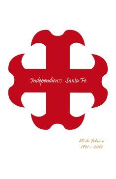 INDEPENDIEN73 SANTA FE 73 años de gloria Fes, Saints, Santa Fe, Lion Art, Colombia