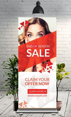 This Roll-Up Banner Template is perfectly suitable for promoting your Business. You can also use this template in multipurpose advertising purpose Rollup Banner Design, Bunting Design, Hoarding Design, Standee Design, Banner Design Inspiration, Roll Up Design, Retractable Banner, Branding Materials, Cool Business Cards