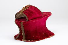Red Chopine // Italy,16th century // The debut of the chopine occurred during the Renaissance & is closely associated with Venice & Spain.Chopines were inspired by footwear of the Near East where Venice had holdings & a thriving trade,but was still the footwear of choice for many wealthy women at the beginning of the 17th century.Highly impractical,the chopine's primary purpose was to make the wearer stand out & therefore was perfectly suited for extravagant & expensive embellishment // ©…
