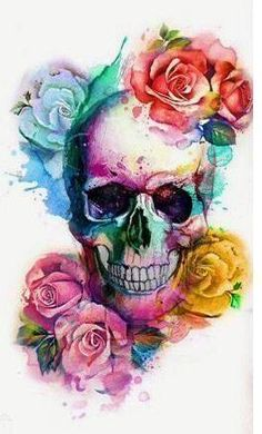 this colorful flower skull design as a wallpaper for your phone to celebrat. -Have this colorful flower skull design as a wallpaper for your phone to celebrat. Totenkopf Tattoos, Sugar Skull Tattoos, Sugar Skulls, Floral Skull Tattoos, Butterfly Tattoos, Skull Pictures, Skeleton Art, Flower Skull, Skull Drawing With Flowers