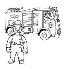 brandweerman sam kleurplaat - Google zoeken