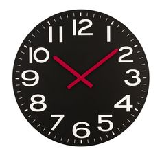 Wall Clock, Black, MDF