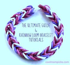 How to make (or buy) the coolest Rainbow Loom bracelet patterns: The ultimate guide  Read more: http://www.coolmompicks.com/2013/09/how-to-make-rainbow-loom-bracelet-patterns-video-tutorials.php#ixzz2fx3pxIsg