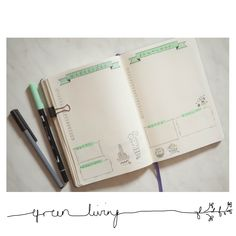 Some Bullet Journal inspiration and layout ideas. This time: Pure Cactus Love. #bulletjournal #ideas #layout #inspiration