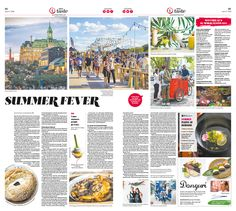 From Festivals to Good Eats, Montreal's Summers Are Ecstatic|Epoch Taste #Food #newspaper #editorialdesign