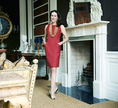 Carolyn Roehm - her complete outfit, and of course the room | Habitually Chic®: Secondhand Chic