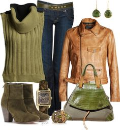 """Green is Gold"" by fantasy-closet ❤ liked on Polyvore"