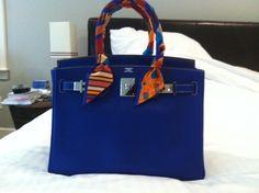 deep blue hermes kelly bag
