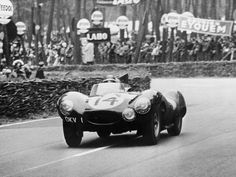 1954. The only brand new designed D Type Jaguar to finish the race. #14 came in 2nd. Wait till next year!