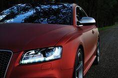 Matte Red Audi RS5