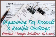Organize tax records and receipts challenge {Week #12 of 52 Week Organized Home Challenge on Home Storage Solutions 101}