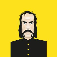 Nick Cave vector illustration