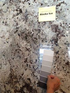 My granite Alaska White & paint color!