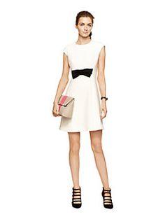 stretch crepe bow dress