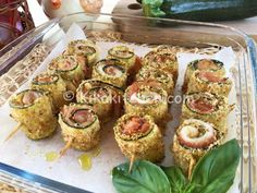 Zucchini Flowers, Antipasto, Fett, Finger Foods, Appetizers, Appetizer Ideas, Sushi, Buffet, Side Dishes
