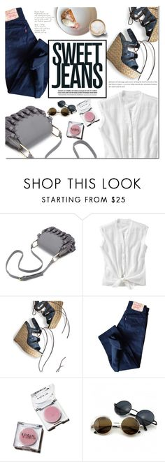 """""""Sweet jeans"""" by dian-lado ❤ liked on Polyvore featuring Old Navy, Stuart Weitzman, Levi's, denim, jeans and sweetjeans"""