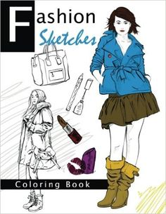 Amazon Fashion Sketches Coloring Book Volume 2 Inspired Adult