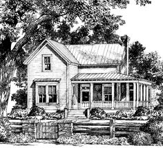 flip the plan. lose dining rm. Bucksport Cottage - Moser Design Group | Southern Living House Plans