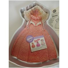 1992 Barbie Cake Pan Baking Mold Unused w Instructions Wilton for Mattel