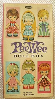 The year Mary and I shared a Birthday Party, we got these PeeWee paper dolls.  Back then, we weren't sure if it was okay to say the word PeeWee☺︎