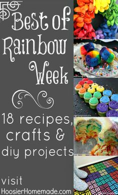 18 Recipes, Crafts and DIY Projects for Rainbow Week on HoosierHomemade.com
