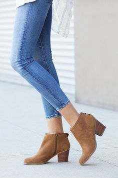 Classic suede ankle bootie | Sole Society Eloise