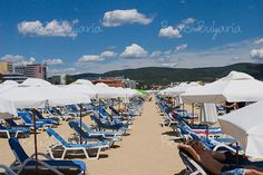 Top beaches along the Black Seaside:  Cacao Beach in Sunny Beach, Golden Sands, Albena, etc.
