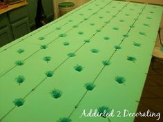 deep tufted headboard... probably more work than I'm willing to do, but really pretty.  I love the deep tufts.
