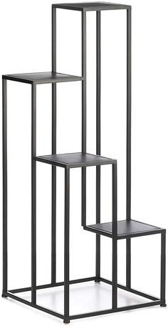 Aspen Tree 4 Tier Plant Stand Modern Metal Plant Shelf Black Multi Tiered Rod Iron Plants Stands Decorative Flower Pot Rack Contemporary Planter Racks Four Shelves Plant Lover Gifts Decor, Shelves, Modern Plant Stand, Decorated Flower Pots, Iron Plant Stand, Plant Decor Indoor, Metal Plant Stand, Plant Shelves, Iron Decor