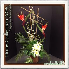 Tropical Inspired Floral for Home Collection 2014 Designed by Christian Rebollo I invite you to follow me on Pinterest @Christian Rebollo  for more inspired ideas on my Permanent Botanical Designs.