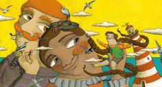 """♥♥♥♥ - """"Gigante Pouco a Pouco"""", escrito por Pablo Albo e ilustrado por Aitana Carrasco. Editora Biruta. Na obra, acompanhamos um menino filho de gigantes. Ele levava uma vida normal como as outras crianças, mas quando ele começa a crescer, acaba enfrentando diversos problemas. Ótimo livro pra conversar sobre amizade e respeito."""
