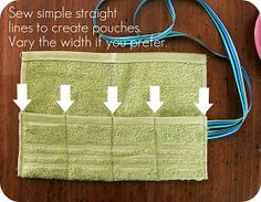 DIY: Washcloth Travel Pouch - good for toothbrush and toothpaste