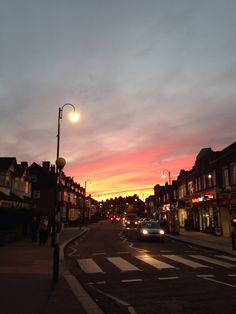 Addiscombe, London, Sunset