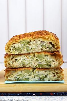 Layers of buttery, flaky, melt-in-your-mouth pastry wrapped around a decadent chicken, broccoli and cream cheese filling.