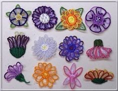 3D Flowers Set, 12 Designs - Small | Mini Designs | Machine Embroidery Designs | SWAKembroidery.com Starbird Stock Designs