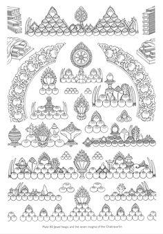 Tibetan Buddhism, Buddhist Art, Tibetan Tattoo, Buddha Drawing, Tibet Art, Thangka Painting, Japanese Drawings, Thai Art, Mural Painting