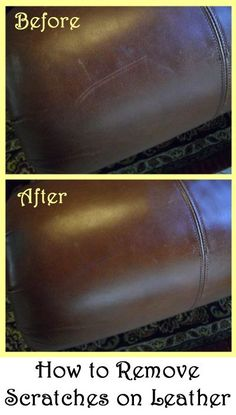 Removing scratches on leather