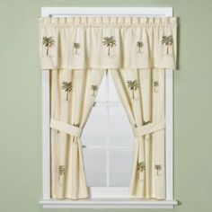 Awesome Croscill® Port Of Call Bathroom Window Curtain Pair   BedBathandBeyond.com