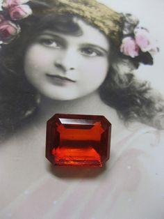 Vintage CZECH Glass Jewels Stones 20x16mm by dimestoreemporium, $5.75