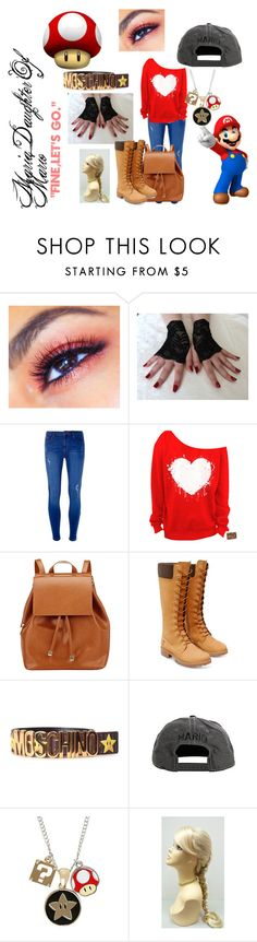 """""""Daughter Of Mario"""" by red-9-quinn on Polyvore featuring Dorothy Perkins, Barneys New York, Timberland, Moschino and Nintendo"""