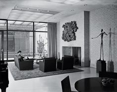 Built for Blanchette Rockefeller in 1950, the guest house was a place for artists and potential Museum of Modern Art donors to congregate.