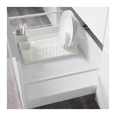 VARIERA pengering piring, putih | IKEA Indonesia Kitchen Furniture, Furniture Making, Kitchen Decor, Studio Interior, Apartment Interior, Dish Drainers, Multifunctional Furniture, Dish Racks, Interior Inspiration