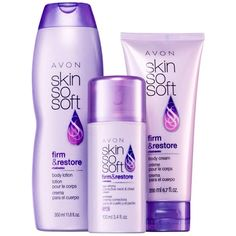 get the firm and restore 3 piece set from skin so soft only $9.99 at a $31 value. let me know or visit my website at www.youravon.com/robyndrowser