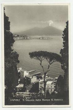 vecchia cartolina di napoli il vesuvio dalle rampe sant antonio | Collezionismo, Cartoline, Paesaggistiche italiane | eBay!