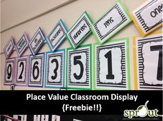 Classroom Place Value Display {FREEBIE!!}