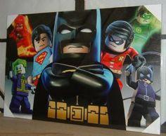 Large Stunning Lego Superheros Batman Superman The Joker Canvas Art Picture Print New Free UK P+P
