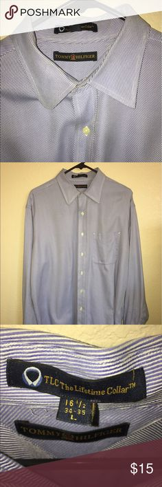 Tommy Hilfiger button down shirt Tommy Hilfiger button down Shirt, used in good condition size Large  16 1/2  34-35 Tommy Hilfiger Shirts Casual Button Down Shirts